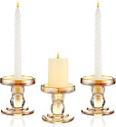 Gold Glass Candle Holder for Pillar Candle Holder Taper Candlestick Holders Dec