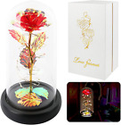 Red Colorful Artificial Flower Rose GiftLight Up Rose Flowers GiftForever Rose