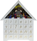 Clever Creations Wooden Christmas Advent Calendar Countdown to Christmas LED H
