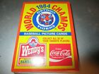 Sealed Topps 1984 DETROIT TIGERS World Champions 22 Card Set Wendy's Coca Cola