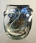SIGNED AND DATED STUDIO GLASS VASE MAD ART 2015 PICASSO DICHROIC