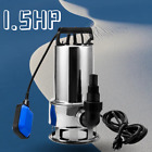 15 HP Stainless Steel Submersible Sump Pump 15ft Cable  Float Switch Upgrade