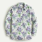 J CREW NWT SZ 16 CLASSIC FIT POPOVER LIBERTY SWEET PEA BOUQUET PRINT AW023
