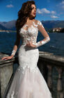 Lace Wedding Dress Wide and Long Long Sleeves Long Comfortable Tail Bridal Gown