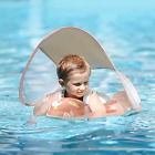 Free Swimming Baby Inflatable Baby Swimming Pool Float with Sun Protection Pink