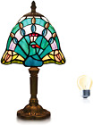 Table Lamp Sea Blue Peacock Tiffany Lamp Stained Glass Desk Reading Room Bedroom
