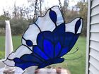Vintage Stained Glass Suncatcher Butterfly