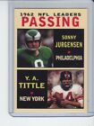 Top 10 Y.A. Tittle Football Cards 31