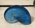Baccarat Crystal Nautilus Shell Seashell Coquillage Dark Blue Paperweight