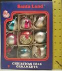 Vintage Santa Land 9 Christmas Ornaments in Box Four with Reflective Centers 1