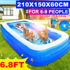 Portable Inflatable Swimming Pool Adults  Kids Pool Bathing Tub Outdoor Indoor