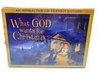 NEW VTG What God Wants for Christmas Kid Friendly Interactive Nativity 2005 NOS