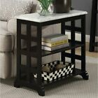 Narrow End Table Accent Side Stand Display Chairside Bookshelf Storage Magazine