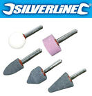 SILVERLINE 5 Piece Grinding Mounted Die Stones/Stone Wheel Drill Bit Set DA100