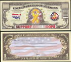 SUPPORT OUR TROOPS MILLION DOLLAR - Lot of 10 Bills