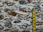 Winter Snow Rocks Rocky Cold Landscape Michael Miller BY YARDS Cotton Fabric