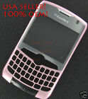 Pink Original RIM Blackberry Curve 8330 Face plate A Cover with Lens Verizon
