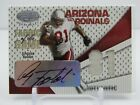 ANQUAN BOLDIN 2004 LEAF CERTIFIED FABRIC OF THE GAME JERSEY AUTOGRAPH AUTO 81