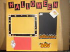 HALLOWEEN Premade Pre Made Scrapbook Pages