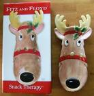 FITZ and FLOYD REINDEER SNACK RELISH TRAY or WALL DECOR with ORIGI