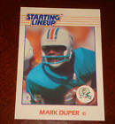 MARK DUPER Miami Dolphins 1988 STARTING LINEUP SL Card