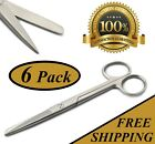 6 OPERATING SCISSORS 55 STRAIGHT TIP SHARP BLUNT SURGICAL INSTRUMENTS