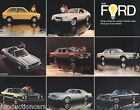 1978 Ford Car Sales Brochure - Mustang II LTD Fairmont Fiesta Thunderbird Pinto