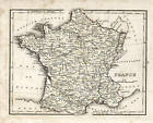 France, 1835 Bradford, Copper Engraving, Vintage, 1835 Original, Antique Map,