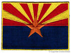 ARIZONA STATE FLAG embroidered iron on PATCH EMBLEM new APPLIQUE