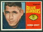 1964 TOPPS CFL FOOTBALL 83 HERB GRAY BLUE BOMBERS CARD