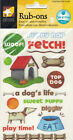 American Traditional Scrapbooking Rub Ons Dogs LIfe