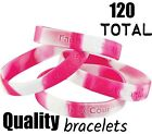 120 Camouflage Pink Breast Cancer Awareness Saying Wrist Bracelets Camo