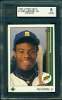 1989 UPPER DECK #1 KEN GRIFFEY JR. RC ROOKIE KSA 8 NMM!