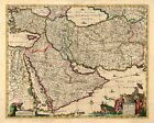 Persia and Arabia 1666 Historic Middle East Exploration Map - 16x20