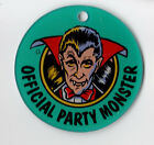 PARTY ZONE DRACULA Pinball Promo Plastic OFFICIAL PARTY MONSTER Key Chain Fob