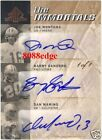 2007 SP TRIPLE AUTO: JOE MONTANA DAN MARINO BARRY SANDERS #1 1 OF AUTOGRAPH