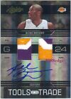 2009-10 ABSOLUTE 3CL DUAL PATCH AUTO: KOBE BRYANT #5 5 AUTOGRAPH TOOLS OF TRADE