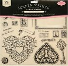 Tattered Angels Clear Stamps Timeless Romance Hearts LG