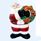 Fitz and Floyd Santa with Wreath Salt & Pepper Shakers