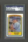 Ron Santo signed Cubs 1990 Swell baseball card Psa-Dna