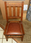Quartersawn Oak Mission Leather Rocker / Rocking Chair  (R51)