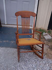Walnut Spindle Back Rocker / Rocking Chair  (R135)