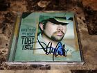 Toby Keith Authentic Hand Signed Cd White Trash With Money Country Music Legend