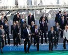 PRES. BARACK OBAMA WITH FELLOW NATO LEADERS 8X10 PHOTO