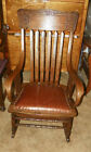 Quartersawn Oak Bentwood Leather Rocker Rocking Chair  (R73)
