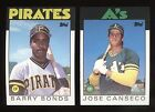 1986 Topps Traded Factory Set Barry Bonds RC Jose Canseco RC MINT