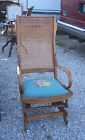 Walnut Eastlake Carved Rocker / Rocking Chair  (R39)