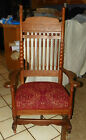 Quartersawn Oak Carved Platform Rocker Rocking Chair  (R34)