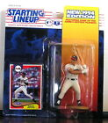 1994 David Justice Atlanta Braves Starting Lineup mint in pkg w/ Baseball card
