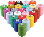 New 25 LARGE 3PLY STRONG 1100Yard QUILTING SEWING SERGER THREAD POLYESTER SET R